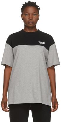 Vetements Black and Grey Cut Up Logo T-Shirt