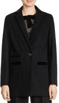 Maje Gasparo Velvet-Trimmed Jacket