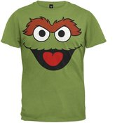 Old Glory Sesame Street - Mens Oscar The Grouch Face Costume T-Shirt