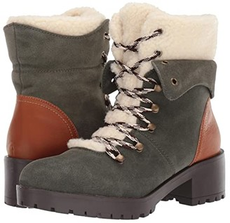 Skechers Mid Sherpa Tongue Hiker Boots (Olive) Women's Boots