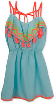 Rare Editions Neon Tassel Sundress, Toddler and Little Girls (2T-6X)