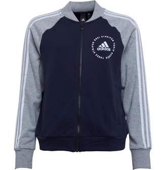 adidas Womens Athletics Sport ID Bomber Jacket Legend Ink/Medium Grey Heather/White