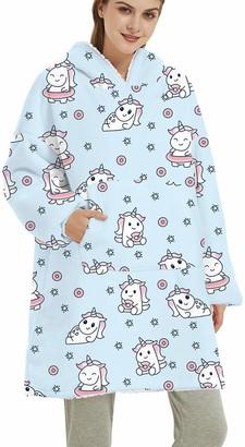 OLIPHEE Womens Hoodie Blanket Warm Sherpa Giant Pullover Unisex Reversible Wearable Blanket Sweatshirt Adults One Size unicor