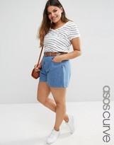 Asos Culotte Denim Shorts