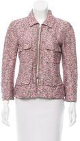 Chanel Chain-Embellished Silk-Blend Jacket