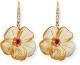 Rina Limor Fine Jewelry Citrine Mini Flower Earrings with Diamonds