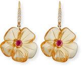 Rina Limor Fine Jewelry Citrine Mini Flower Earrings with Diamonds
