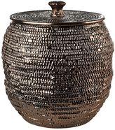 Pols Potten Bronze Glazed Ceramic Basket With Lid