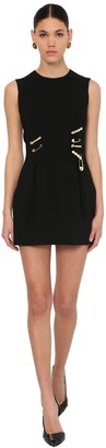 Versace Viscose Crepe Mini Dress W/pins