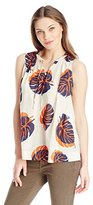Lucky Brand Women's Tossed Leaf Tank