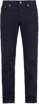 MAISON KITSUNÉ Slim-leg cotton-denim melange jeans