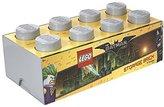Lego Batman Storage Brick 8 Knobs, Stackable Storage Box, 12 l, Grey