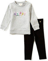 Kate Spade Baby Girls 12-24 Months Happy Balloon Sweatshirt & Leggings Set