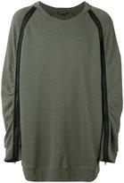Ann Demeulemeester zipped sleeve sweatshirt - men - Cotton - XS