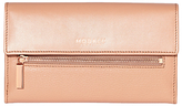 Modalu Erin Leather Continental Wallet, Dusky Pink