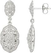 1/7 Carat Diamond Sterling Silver Drop Earring