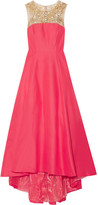 Marchesa Embellished faille gown