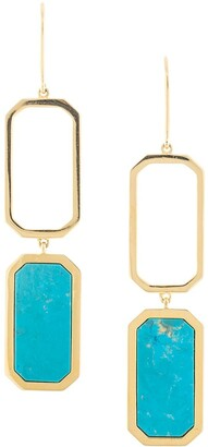 Long Hexagon Earrings