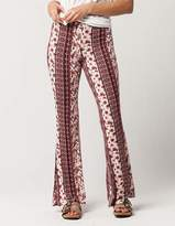 SKY AND SPARROW Floral Medallion Womens Flare Pants