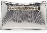 Jimmy Choo Venus Metallic Python Clutch Bag