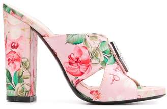Philipp Plein Flowers sandals