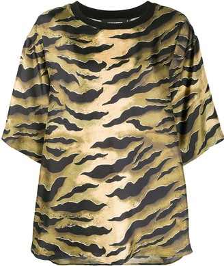DSQUARED2 shiny zebra-print T-shirt