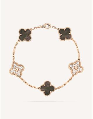 Van Cleef & Arpels Vintage Alhambra rose-gold, Mother of Pearl and diamond bracelet