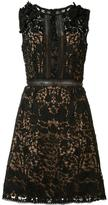 Marchesa floral lace dress - women - Polyester - 2