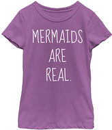 Fifth Sun Purple Berry 'Mermaids are Real' Tee - Toddler & Girls