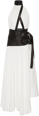 Proenza Schouler Pleated Linen Wrap Dress