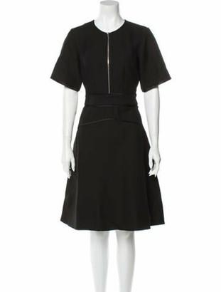 3.1 Phillip Lim Crew Neck Knee-Length Dress Black