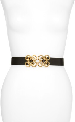 Raina Torchon Rope Buckle Leather Belt