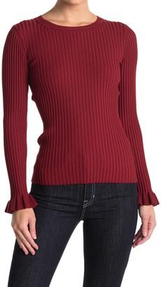 Bailey 44 Jamie Rufflle Cuff Ribbed Sweater