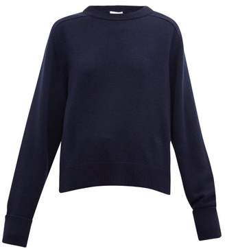 Chloé Round-neck Cashmere Sweater - Womens - Navy