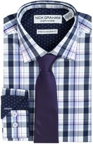 Nick Graham Men's Everywhere Modern-Fit Stretch Dress Shirt and Tie Boxed Set