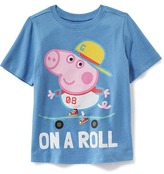 """Old Navy Nick Jr. Peppa Pig George """"On A Roll"""" Tee for Toddler Boys"""