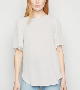 New Look Woven Flutter Sleeve T-Shirt