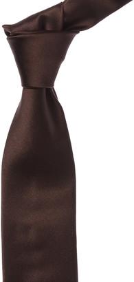 Canali Brown Silk Tie