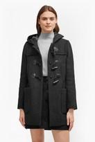 Teddy Check Hooded Duffle Coat