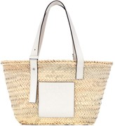 Thumbnail for your product : Loewe Medium leather-trimmed basket tote