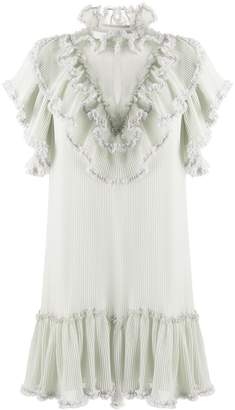 See by Chloe Short Sleeve Ruffled Trim Dress