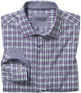Johnston & Murphy Shadow Slub Plaid Shirt