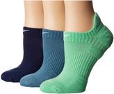 Nike Dri-Fit Cushion No Show 3-Pair Pack Women's No Show Socks Shoes