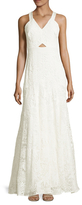 Rebecca Taylor Cotton Halter Lace Gown