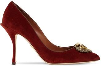 Dolce & Gabbana 90mm Velvet Pumps