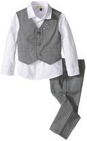 Armani Junior Three-Piece Shirt, Pants, and Vest Set Boy's Active Sets