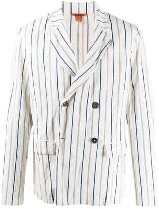 Barena Striped Double-Breasted Blazer