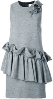 MSGM ruffled detail sleeveless dress