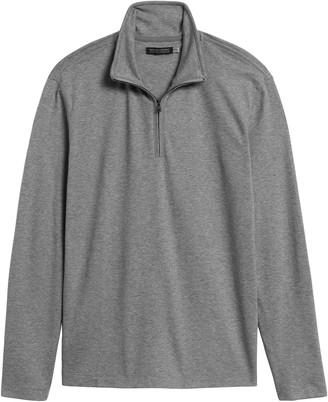 Banana Republic Luxury-Touch Performance Half-Zip T-Shirt