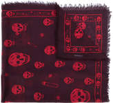 Alexander McQueen skull and paper clip scarf